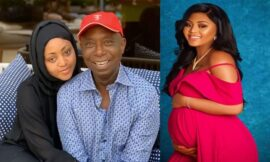 Nigeria Actress Regina Daniels welcomes his new baby boy.